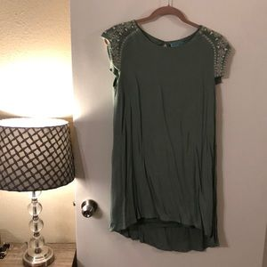 Franchesca's Green Embroidered Shift Dress